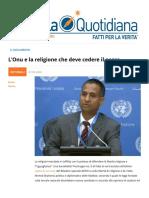 L'Onu e la religione che deve cedere il passo