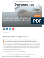 What Does the 2008 Melbourne Declaration Look Like in 2019