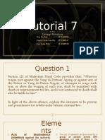 islamic law II - tut 7