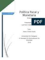 LAS POLÍTICAS FISCAL Y MONETARIA para el ensayo.docx