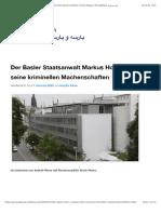 Herbert Blaser, Alexander Dorin und die Posse der Basler Staatsanwaltschaft