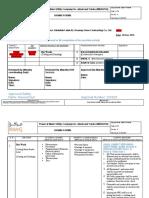 Dynamic Risk Assessment Hot Work Cutting Main Header Line