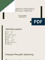 Presentation BPPV