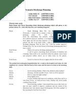 Scenario Discharge Planning