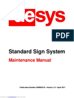 Aesys - Standard Sign System - Maintenance Manual