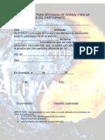 Autorizacion Recogida Dorsal