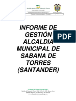 INFORME DE GESTION 2018 SABANA DE TORRES