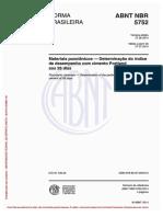 NBR-5752- Indice de atividade pozolanica cimento portland aos 28 dias
