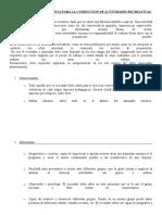 ASPECTOS A TENER EN CUENTA PARA LA CONDUCCION DE ACTIVIDADES RECREATIVAS