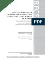 WESZ e DALONGARO - CUSTOS DOS SERVIÇOS DE TERCEIROS X SERVIDOR EFETIVO NA GPM
