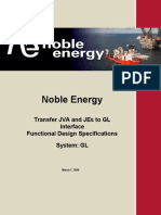 Noble Energy -  Transfer JVA and JEs to GL Interface Functional Design Template 1.0