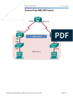3.4.2.6 Lab - Configuring a Point-to-Point GRE VPN Tunnel-MARCELO YABAR