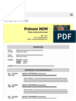 Exemple de CV Simple à Télécharger Gratuit | Modèles de CV