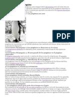 CARACTERISTICAS DEL PINGUINO