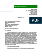 Letter to the U.S. Department of Transportation about Adams County rail station