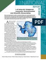 Exploration of Antarctic Subglacial Aquatic Environments, Report in Brief