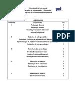 EL PLAN DE ESTUDIO PPD TODOS LOS PROGRAMAS