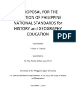 PROPOSED STANDARDS IN HISTORY AND GEOGRAPHY EDUCATION