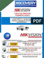 LISTADO  HIKVISION  FEBRERO DT 170220