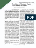Gardner Spectral Corrleation Mod Signals PartI
