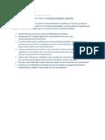 Written Report in Maintain Training Facilities