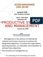 Lecture-04-Productive Systems and Management