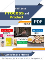 Curriculum as a Process and Product