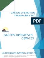 GASTOS OPERATIVOS TRANSALINAS SAC