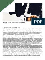 Bazin e a crítica no Brasil