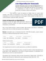 Costo de Reposición Hiperinflación Venezuela