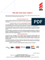 Fire liability and you