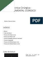 Técnica Cirúrgica - Instrumental Cirúrgico