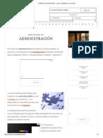 Definición de administración - Qué es, Significado y Concepto
