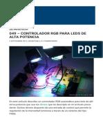049 - Controlador RGB para leds de alta potencia   Inventable-1
