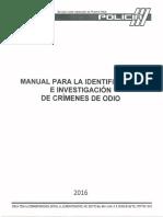 Manual para la identificación e ivestificación de crimenes de odio (Policía de PR)