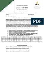 CLAVE EXAMEN DE MATEMAT- JUSTAS DEL SABER
