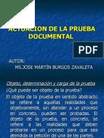 ACTUACION DE LA PRUEBA DOCUMENTAL (JUZGAMIENTO)