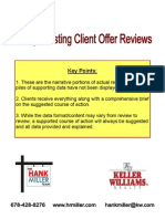 Purchase Offer Reviews for Home Sellers