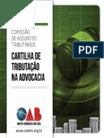 CARTILHA DE TRIBUTAÇÃO NA ADVOCACIA OAB-MS-1