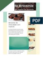 Brownie de chocolate con nueces   Todobrownie.com