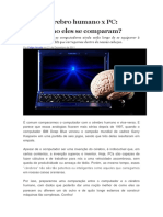 Cérebro humano x PC