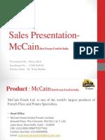 Sales Presentation- McCain Best Frozen Food In India