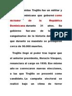 Rafael Leónidas Trujillo gobierno