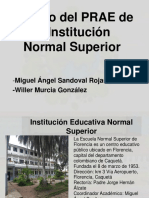 Estudio del PRAE de la Normal Superior