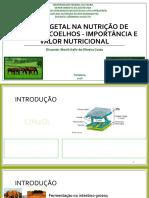 FIBRA VEGETAL NA NUTRIÇÃO DE EQUINOS E COELHOS