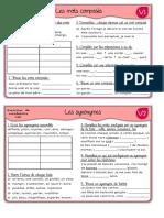 Exercices de Vocabulaire CM1 1