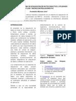ARTICULO - DISEÑO DE UN SISTEMA DE ADQUISICION DE DATOS DIDACTICO