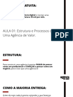 AULA 01 - Estrutura e Processos de Uma Agência de Valor