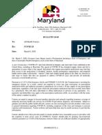 Covid Directive Mdhealth Commissioenr