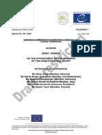 Draft-opinioni paraprak i Komisionit te Venecias